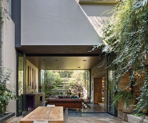Stacked House in Mexico City With a Cool Garden Oasis