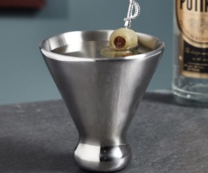 Stainless Steel Martini Glass Design