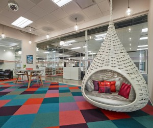 Stantec Designs Headquarters for Hospitality Upholstery Leader Valley Forge Fabrics