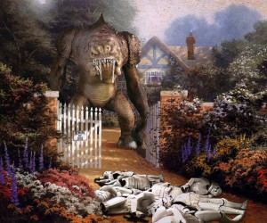 Star Wars Invades Thomas Kinkade Paintings by Jeff Bennett