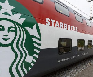 Train Car Converted into Starbucks