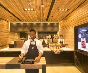 Starbucks Express Format Store Opens in New York