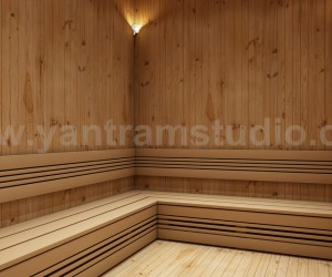 Steam Bath Room In House Design Ideas by Yantram 3d interior rendering services San Francisco, USA