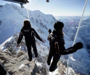 Step into the Void installation above Chamonix, in the French Alps