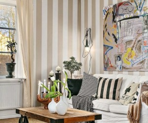 Striped Scandinavian Apartment