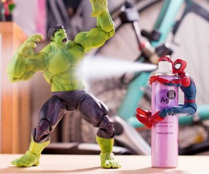 Stunning Mashup Photos of Superhero Action Figures by Japanese Photographer Hotkenobi