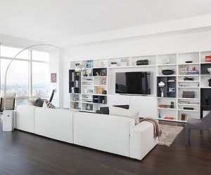 Stunning modern condo rises high above Central park