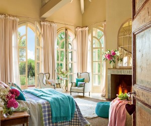 Stunning spring-like bedroom