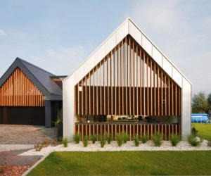 Stunning Two Barns House in Poland for a Modern Family Life