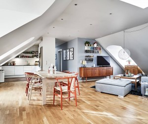 Stylish Attic Design in Sweden