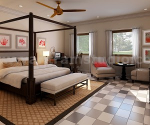 Stylish Bedroom Rendering Ideas by Yantram home renovation concept San Diego, USA