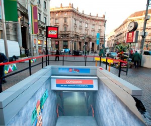 Subway Station made of Lego Bricks Pops Up In Milan
