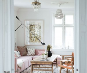 Summer scandinavian home