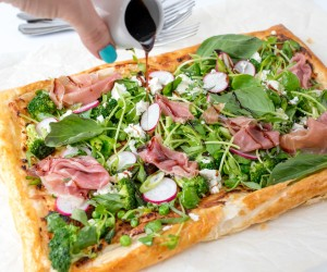 Summer Vegetable Tart with Prosciutto