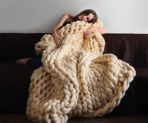 Super chunky cozy knit by Anna Mo