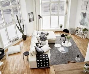 Surprising design in a 62 m apartment