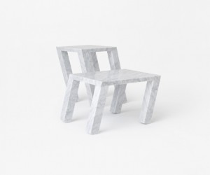 Sway Side Table by nendo for Marsotto Edizioni