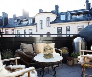 Swedish Rooftop Loft Apartment