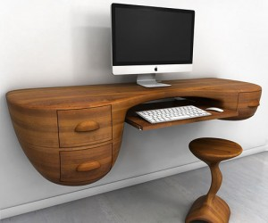 Swerve Desk  excellent woodworking technique