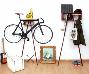 Sy1t Bike Wardrobe: A Bike Rack That Holds All The Little Things