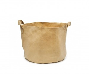 Tan Aeration Fabric Pot with Handles by 247Garden