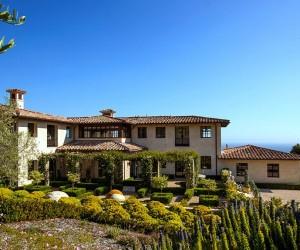 Tantalizingly Tuscan Luxurious Malibu Villa Enchants with Mediterranean Magic