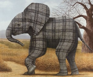 Tartan Animals by Sean Landers