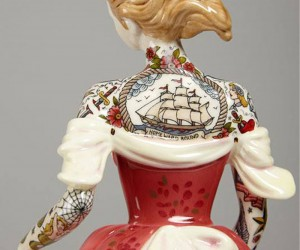 Tattooed Porcelain by Jessica Harrison