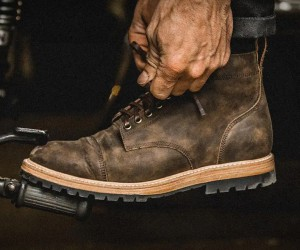 Taylor Stitch Espresso Grizzly Moto Boot