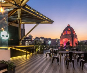 Terrace Overlooking the Republic Square in Mexico City, Mexico