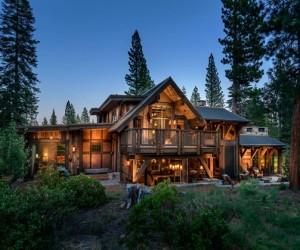 Texan style rustic mountain cabin
