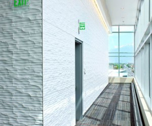 Texture turning corners - Textured Panels by Soelberg Industries