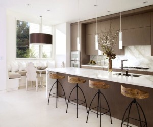 Best Kitchen Design Ideas eclectic eat in kitchen with glass dining table The Best Kitchen Design Ideas