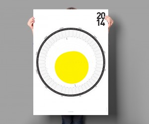 The Circular Calendar for 2014 by Sren Lachnit
