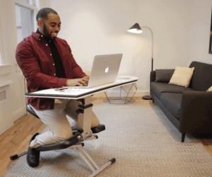 The Edge: Adjustable Kneeling Chair-Desk