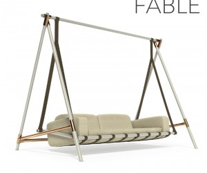The Fable Swing is a Chic Version of Grandmas Ugly Porch Swing.