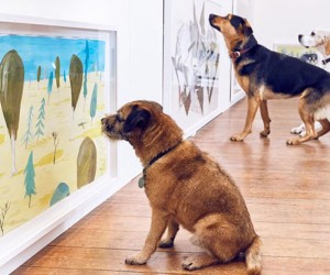 The First Interactive Art Exhibit Designed For Dogs