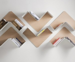 The Fishbone modular shelving system from B-Line
