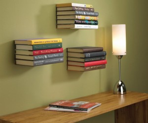 The Floating Bookshelf Makes Your Books Appear As If They Are Floating