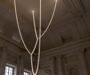 The Gabriel Chandelier by Ronan and Erwan Bouroullec at the Palace of Versailles
