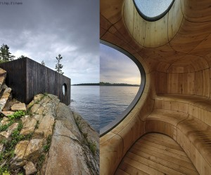The Grotto Sauna Prefab by Partisans
