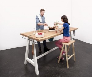 The ingeniously designed Cooking Table by Moritz Putzier