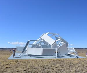 the interactive modular folding pavilion