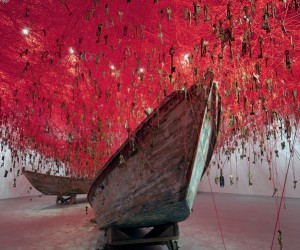 The Key in the Hand Installation by Chiharu Shiota