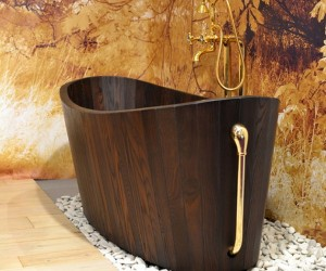 The Khis range of luxury wooden tubs
