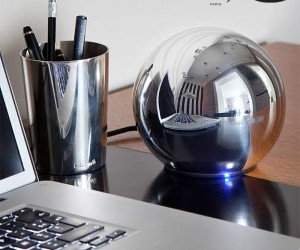 The LaCie Christofle Sphere  One Fancy Schmancy External Drive.