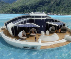 The Luxury Solar Floating Island Resort
