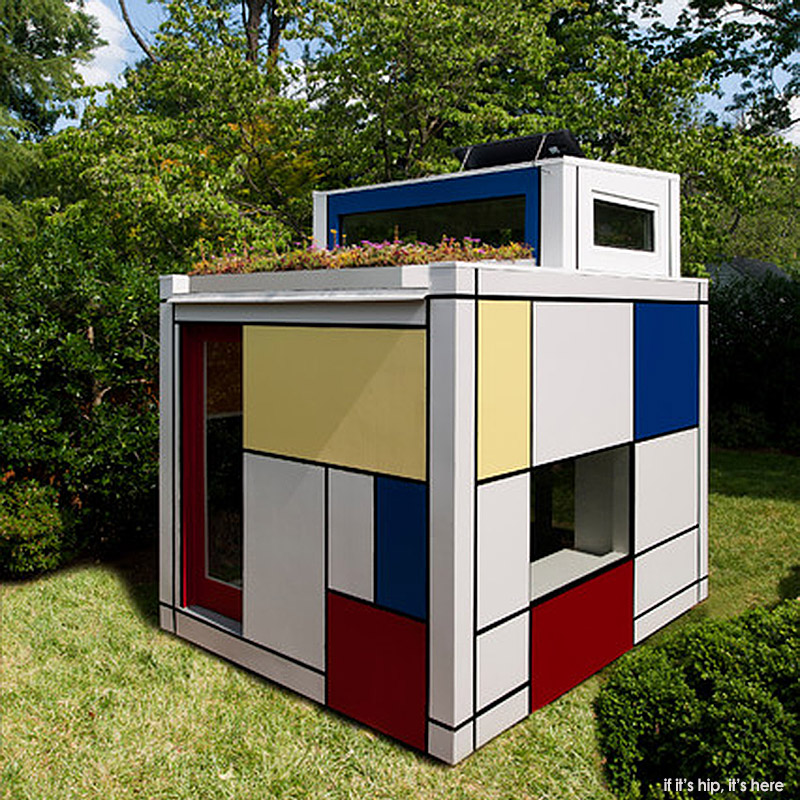 the mondrian prefab playhouse by barnes vanze architects