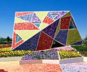 The Mosaic Park  architecture and landscape, ceramics and flowers