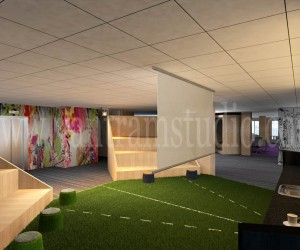 The Most Attractive 3D Corporate Office Design View